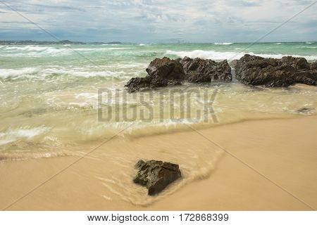 Waves And Beach At Snapper Rock, New South Wales