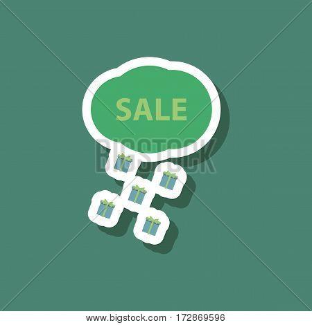 fashion patch , sale sticker gift rain season