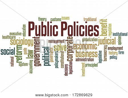 Public Policies, Word Cloud Concept 3