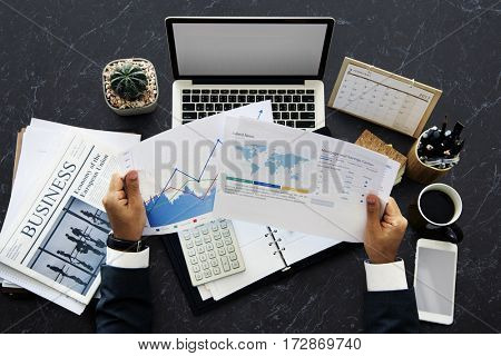 Laptop Calculator Business Financial Copy Space Working