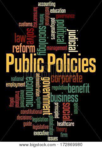 Public Policies, Word Cloud Concept 6
