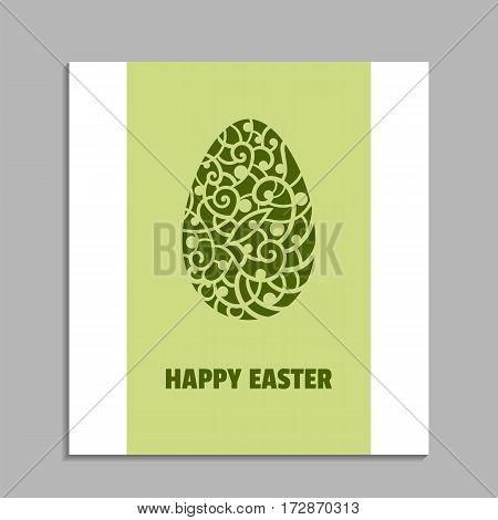 Vector illustration.Easter egg. Decorative element. Greeting card.