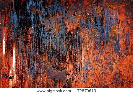 Detail of rusted metal texture for background