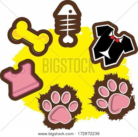 Icons for pets and pet stores for cute and colorful use.