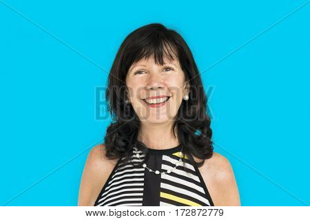 Senior Adult Woman Smiling Happiness Portrait