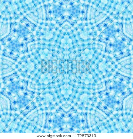 Abstract blue bright background with concentric pattern