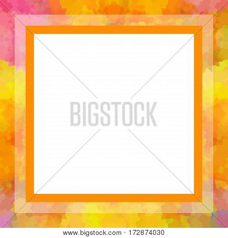 Bright square colorful photo or picture frame