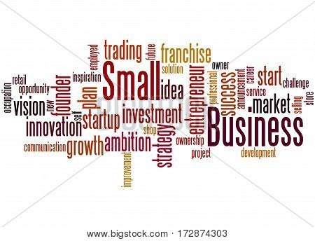 Small Business, Word Cloud Concept