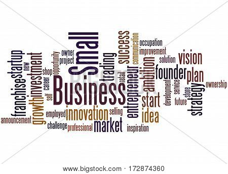 Small Business, Word Cloud Concept 2