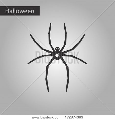 black and white style icon of halloween spider