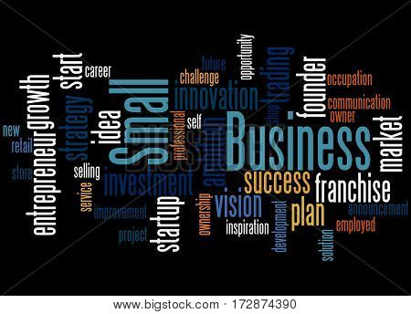 Small Business, Word Cloud Concept 3