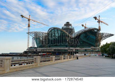 Construction Of Caspian Waterfront Mall. Baku