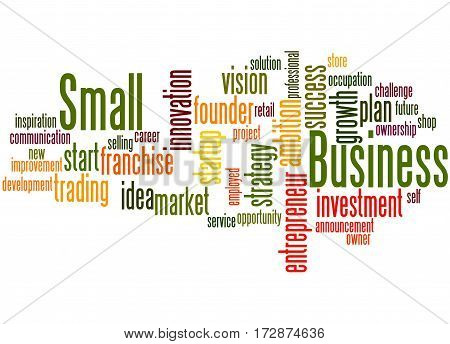Small Business, Word Cloud Concept 7