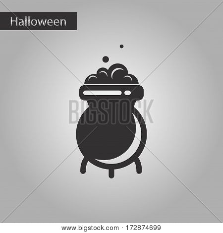 black and white style icon of cauldron witches potion