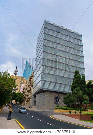 Building Of Hotel In Baku