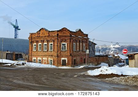 Old residence of the wealthy citizens of the late 19th century. City Kamensk-Uralsky, Sverdlovsk region, Russia.