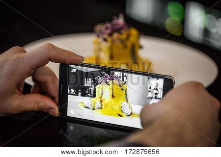 Chef Taking A Photo