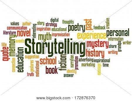 Storytelling , Word Cloud Concept