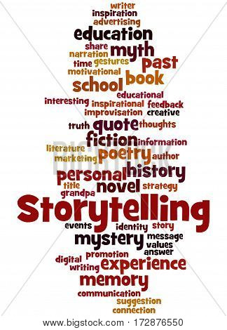 Storytelling , Word Cloud Concept 4