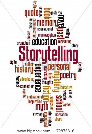 Storytelling , Word Cloud Concept 5