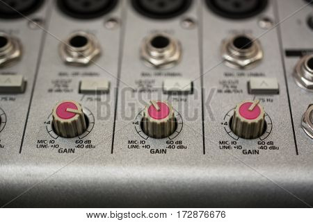 Input Sockets And Operating of the Audio Mixer.