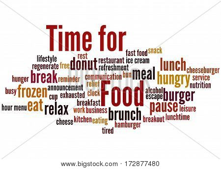 Time For Food, Word Cloud Concept