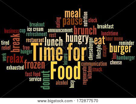 Time For Food, Word Cloud Concept 2