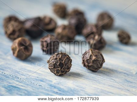 Black pepper peas. Macro photo