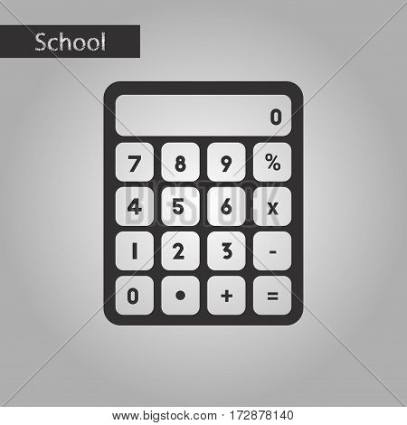 black and white style icon of electronic calculator