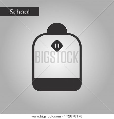 black and white style icon of school bag