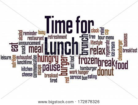 Time For Lunch, Word Cloud Concept