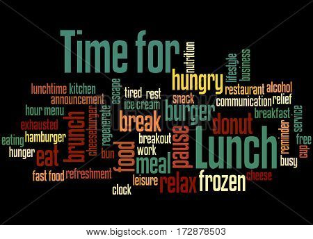 Time For Lunch, Word Cloud Concept 3