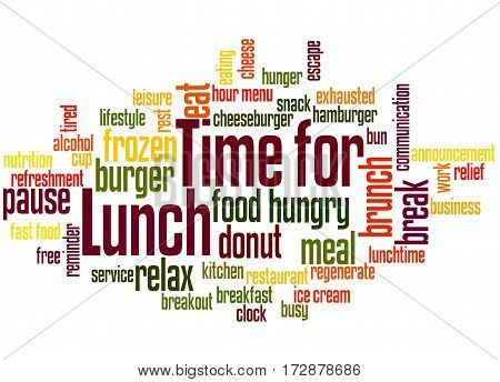 Time For Lunch, Word Cloud Concept 6