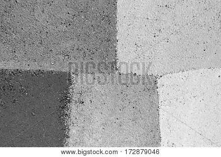 Old white and gray painted wall background texture closeup