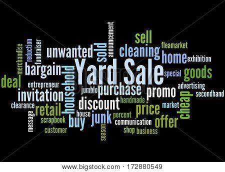 Yard Sale, Word Cloud Concept