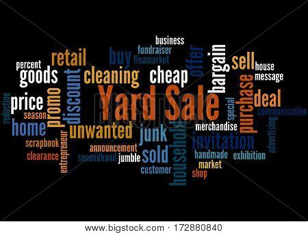 Yard Sale, Word Cloud Concept 4