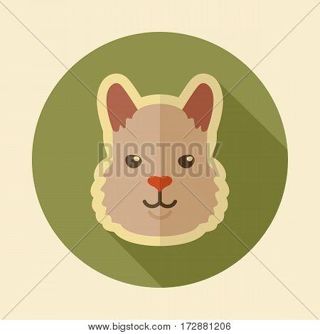 Lama alpaca guanaco flat icon. Animal head vector symbol eps 10