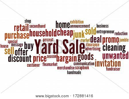 Yard Sale, Word Cloud Concept 9