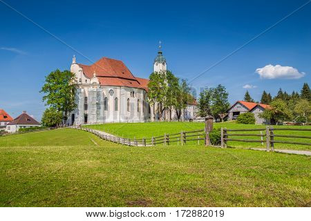 Famous Wieskirche Pilgrimage Church, Bavaria, Germany