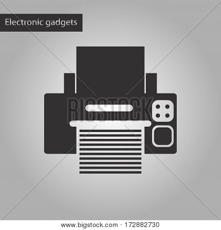 black and white style icon of Printer