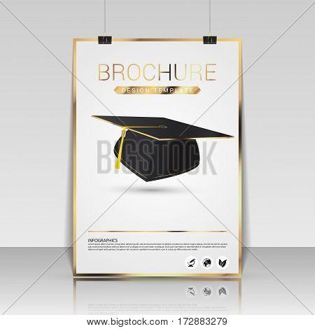 Brochure cover design. Flyer poster booklet template. Vector illustration