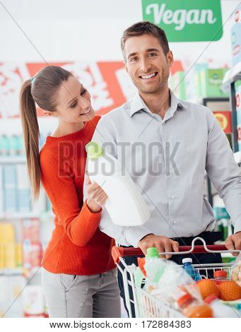 Happy Couple Shopping At The Store