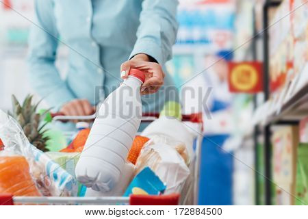 Grocery Shopping At The Store