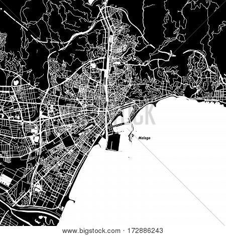 Malaga Vector Map