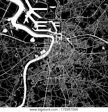 Antwerp Vector Map
