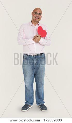 Asian Man Full Kisses Heart