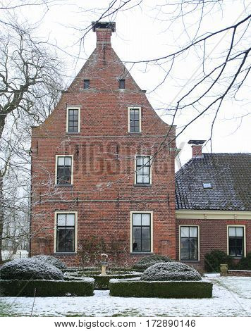 Piloersemaborg from the 16th century in Den Ham. The Netherlands