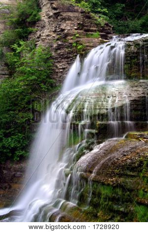 Lucifer Falls is one of the many beautiful waterfalls found in Robert H. Treman State Park in the Finger Lakes region of New York. poster