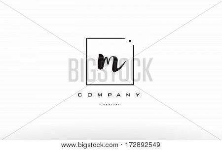 M Hand Writing Letter Company Logo Icon Design