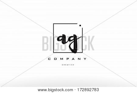 Ag A G Hand Writing Letter Company Logo Icon Design